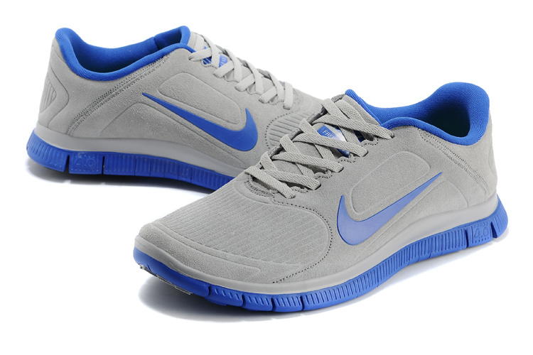 promo code 107f0 1b884 New Nike Free 4.0 V3 Suede Grey Blue Shoes