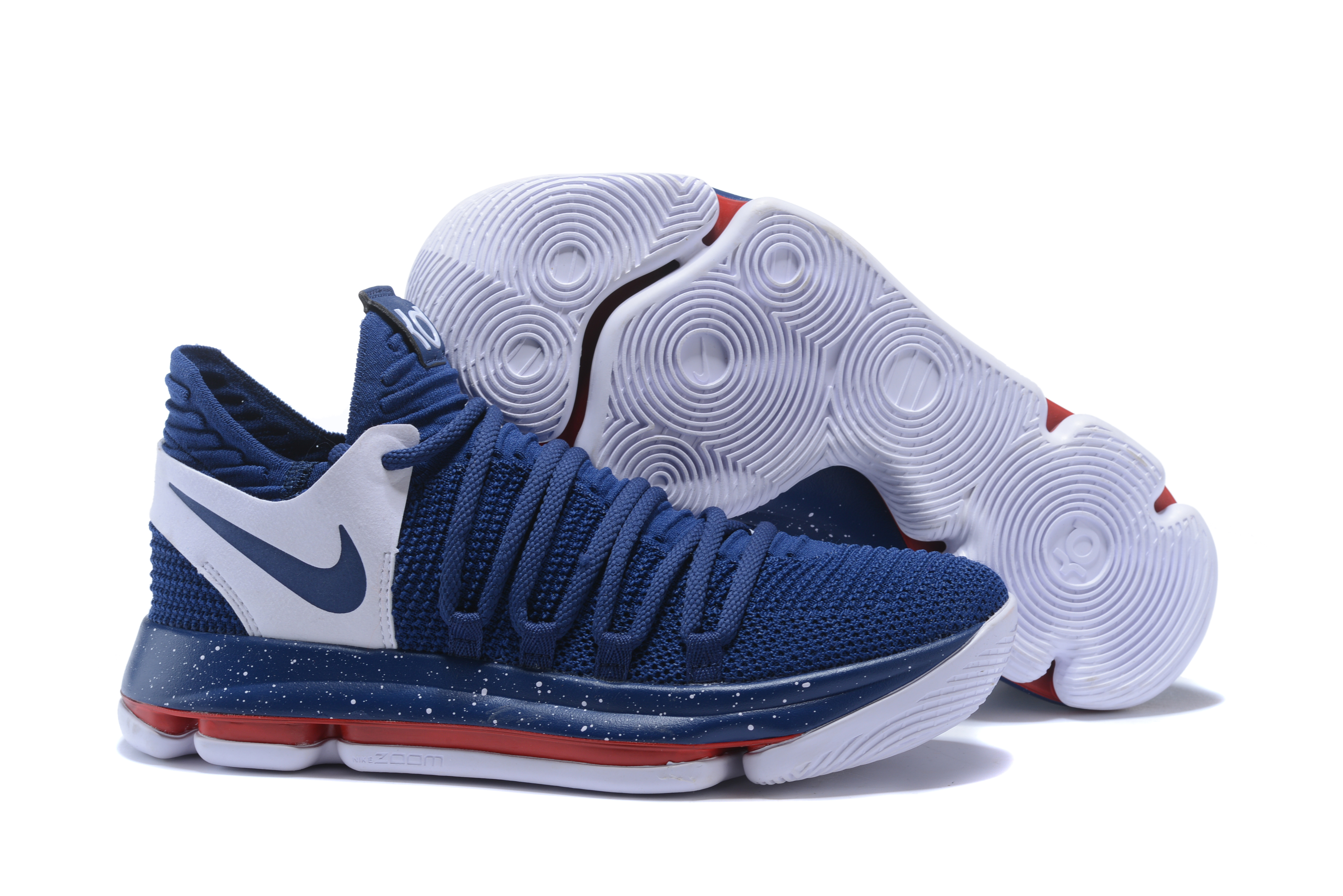 New Nike KD 10 Dark Blue White Red Shoes