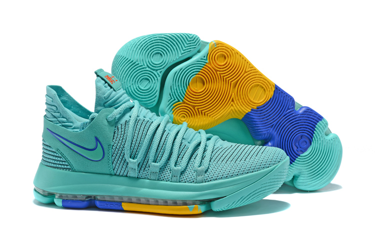 New Nike KD 10 Water Green Blue Shoes