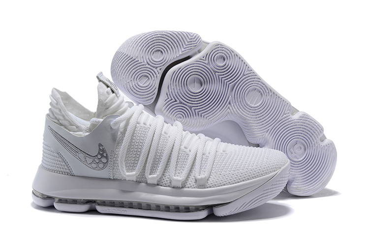 New Nike KD 10 White Little Bee Shoes
