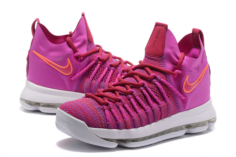 huge discount 73a3b 3b59b New Nike KD 9 Elite Pink Orange Basketball Shoes