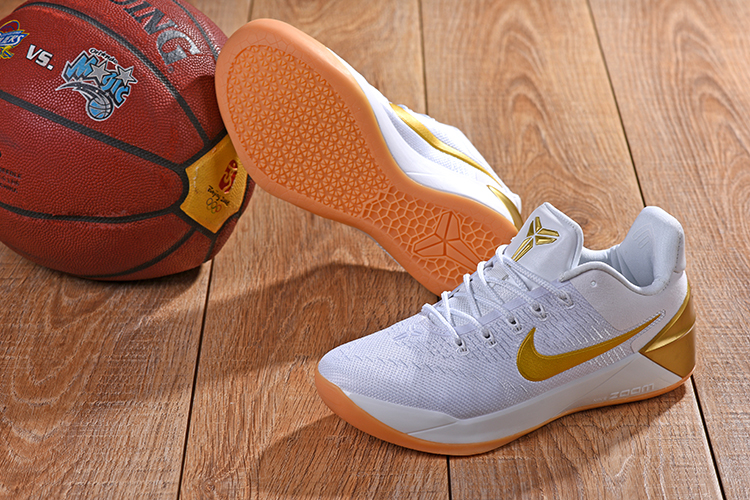 New Nike Kobe AD White Gloden Shoes
