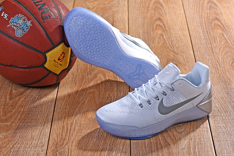 New Nike Kobe AD White Sliver Shoes