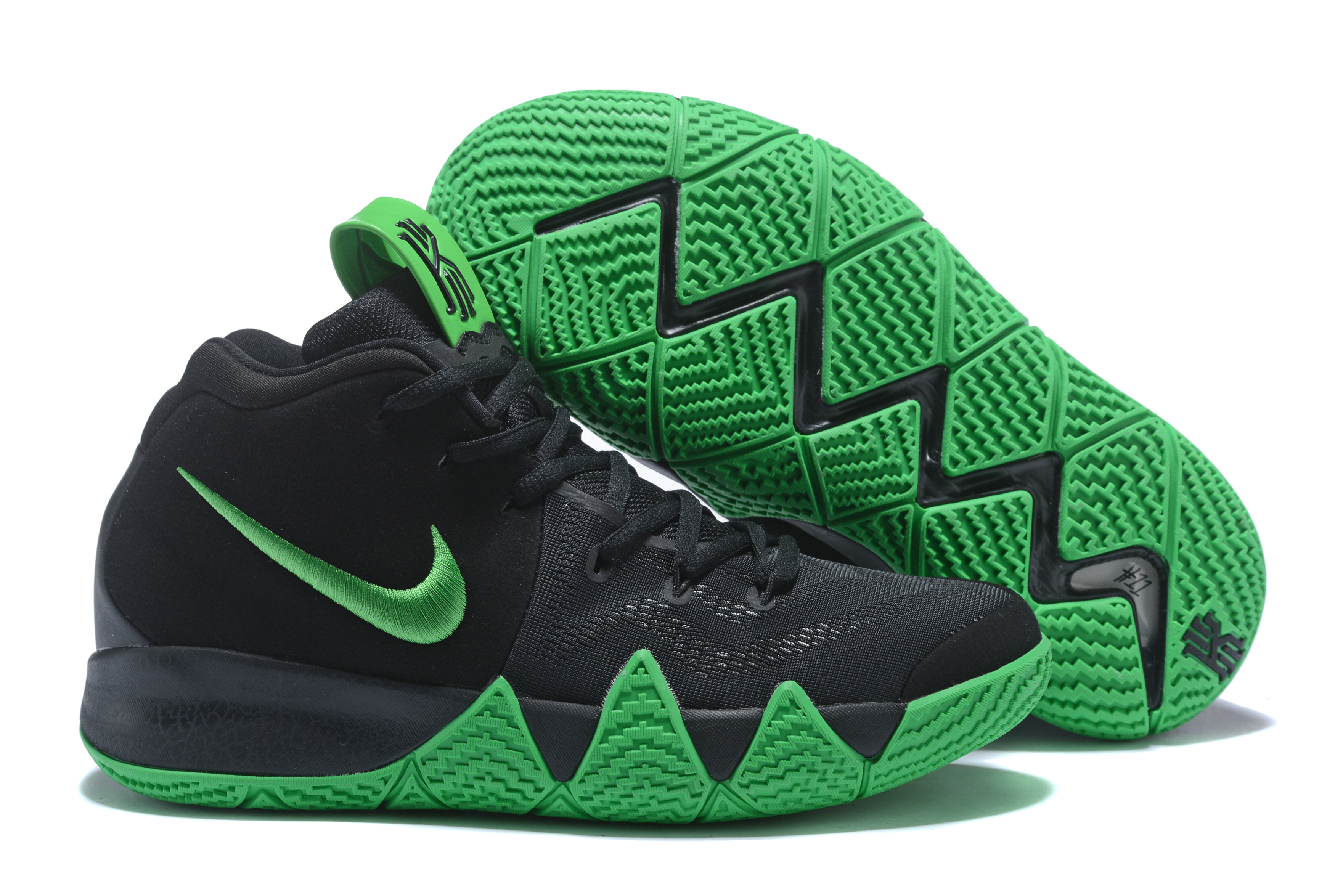 New Nike Kyrie 4 Black Green Shoes