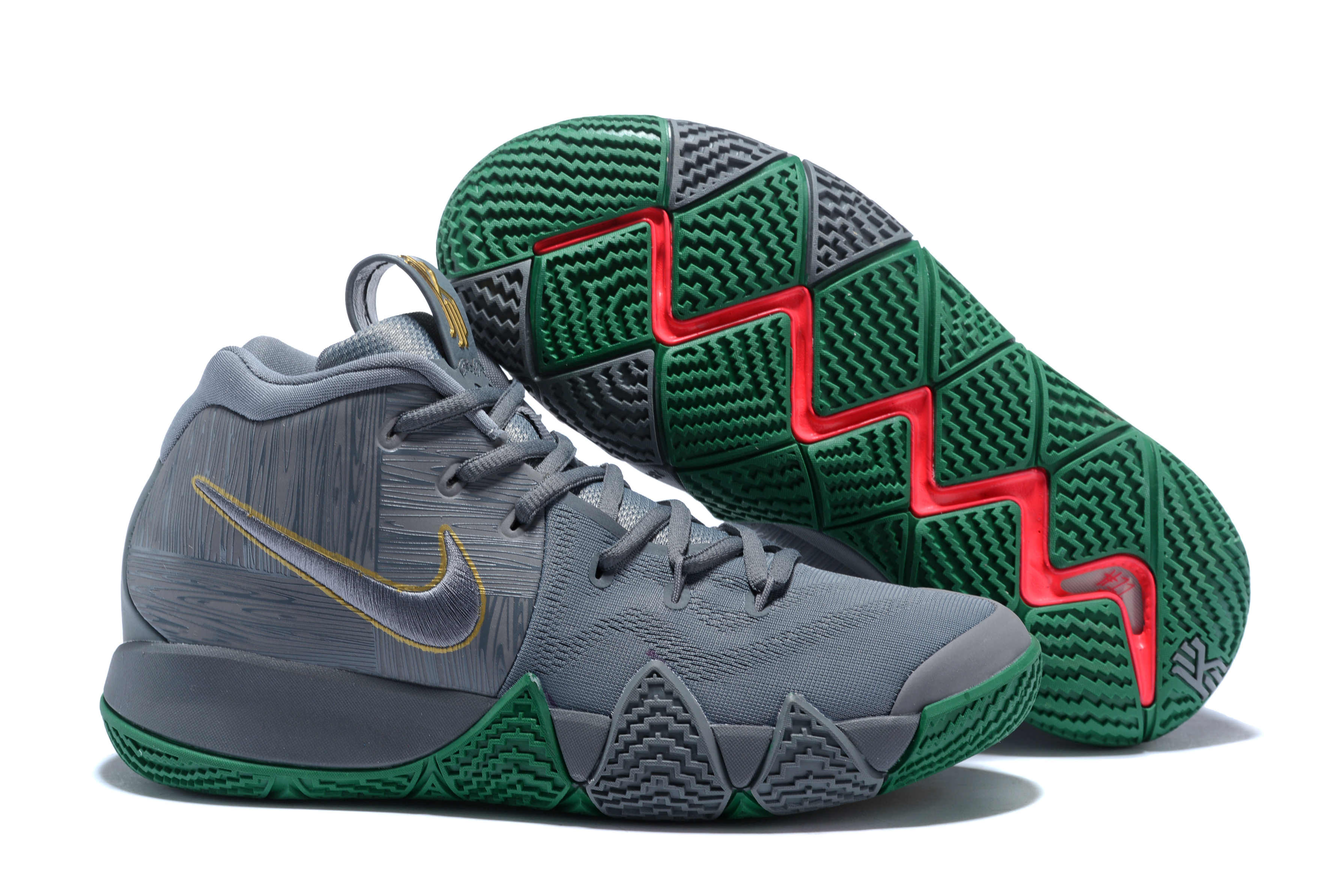 New Nike Kyrie 4 Grey Green Shoes