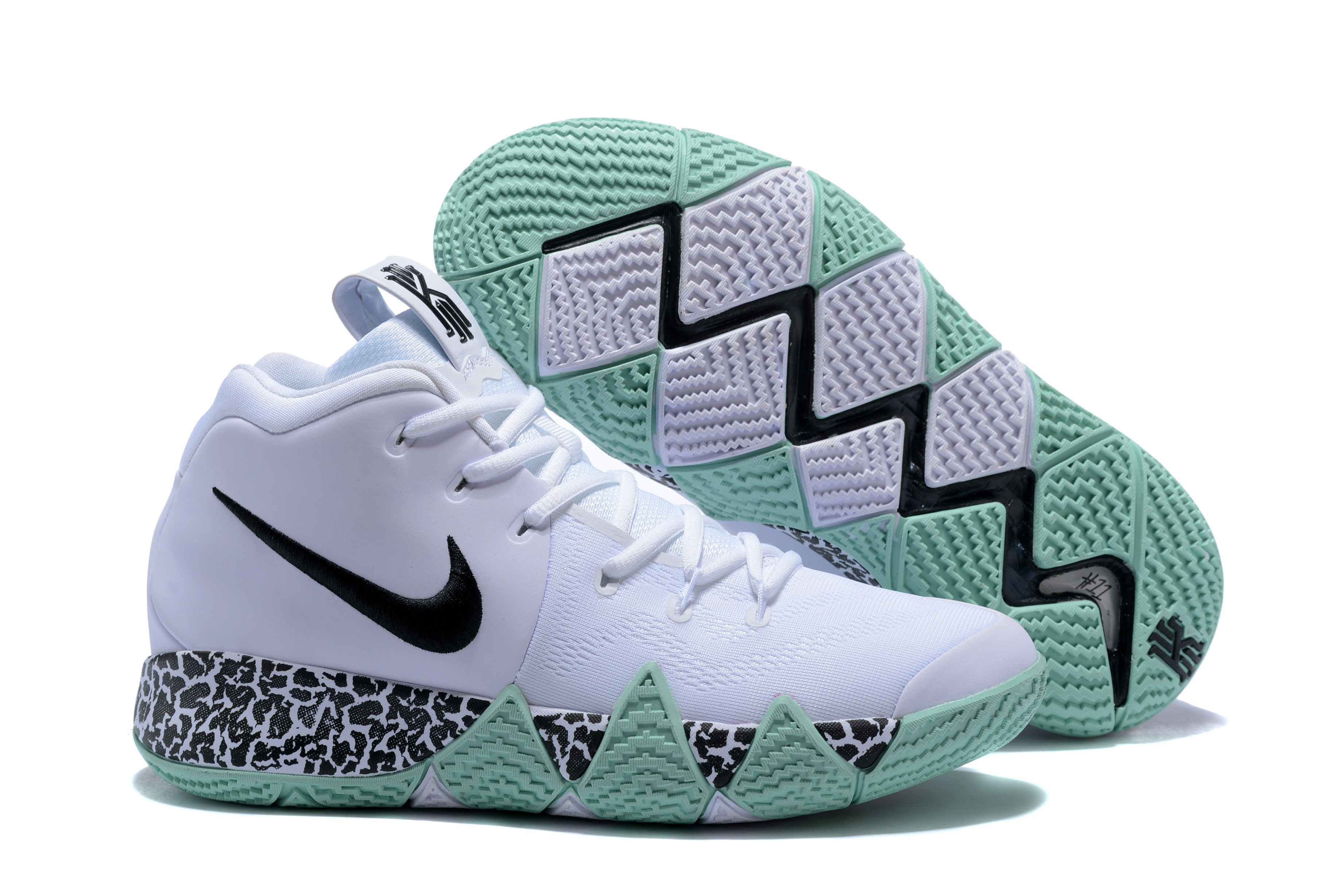 New Nike Kyrie 4 White Green Shoes