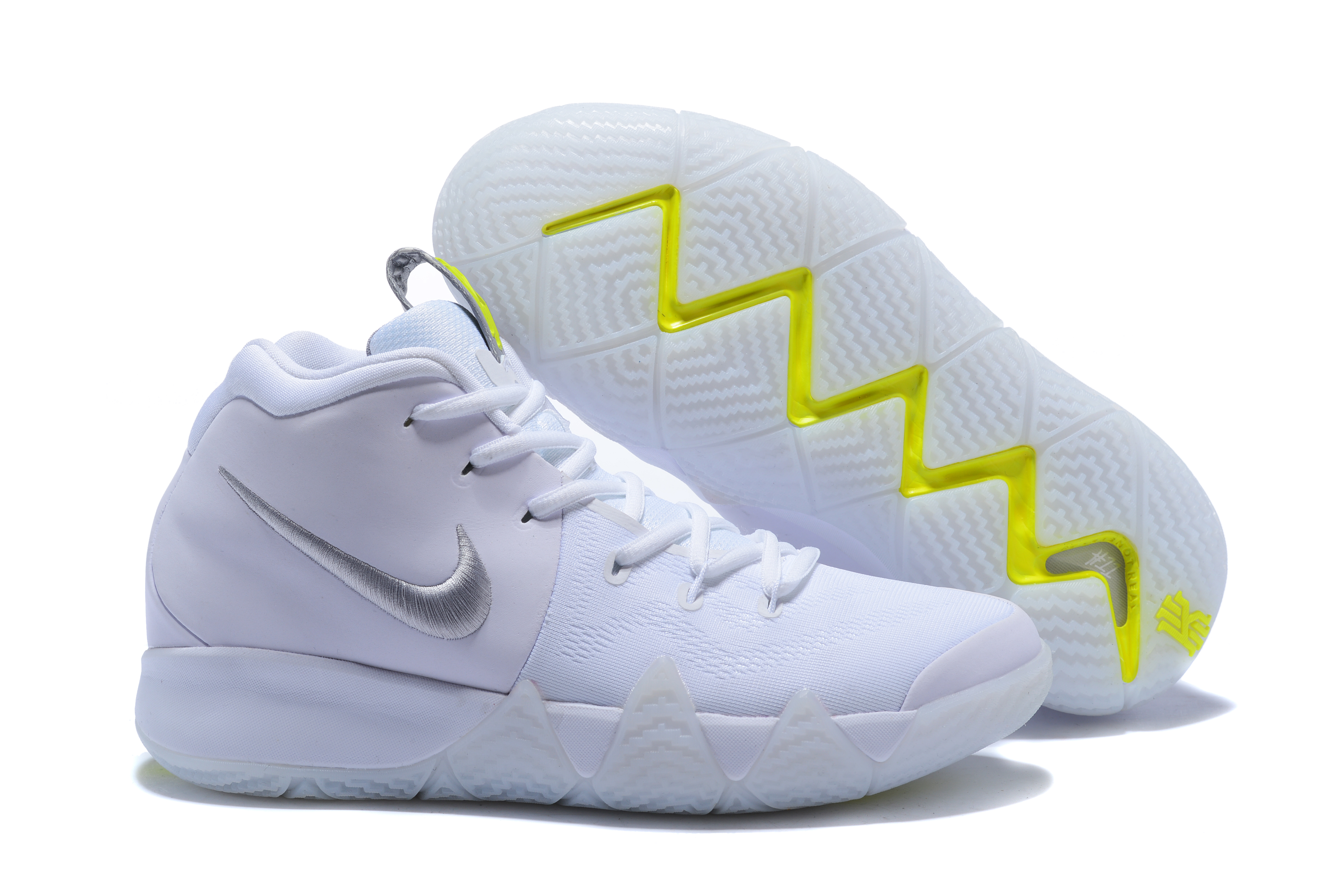 New Nike Kyrie 4 White Sliver Shoes