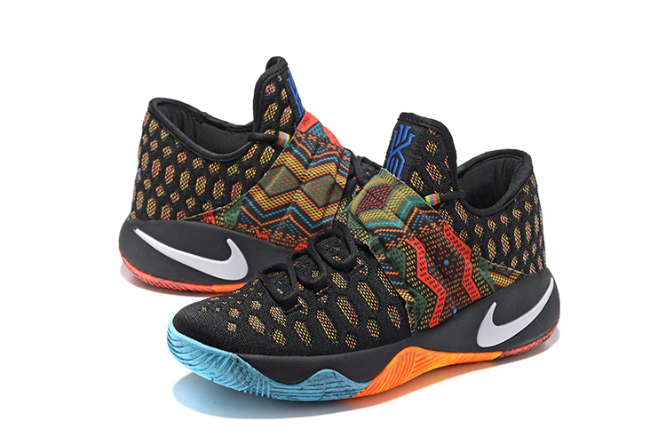 cheaper 439ea 25bde New Nike Kyrie Irving 2.5 Black Orange Blue Basketball Shoes