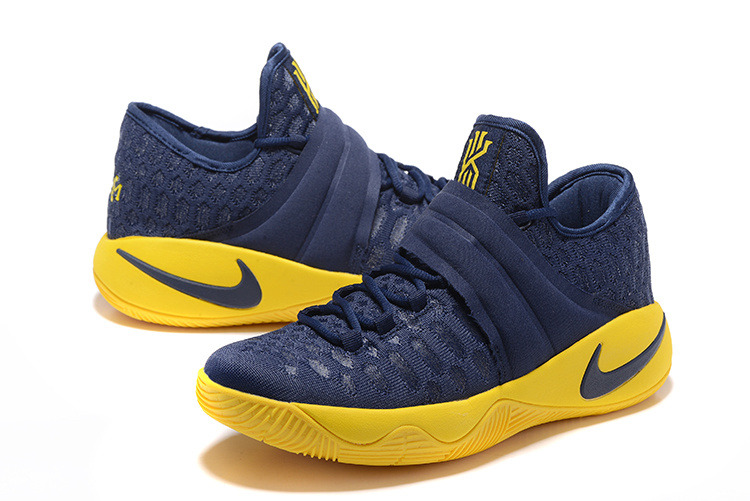 New Nike Kyrie Irving 2.5 Blue Yellow Basketball Shoes