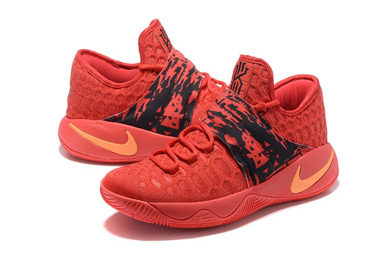 New Nike Kyrie Irving 2.5 Red Black Orange Basketball Shoes