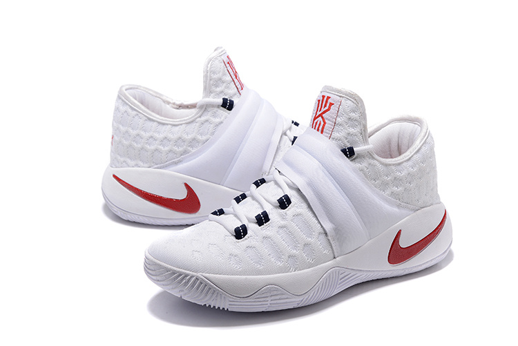 New Nike Kyrie Irving 2.5 White Red Basketball Shoes