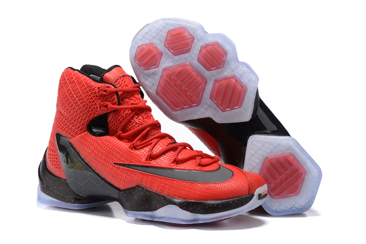 New Nike Lebron 13 Red Black Basketball Shoes