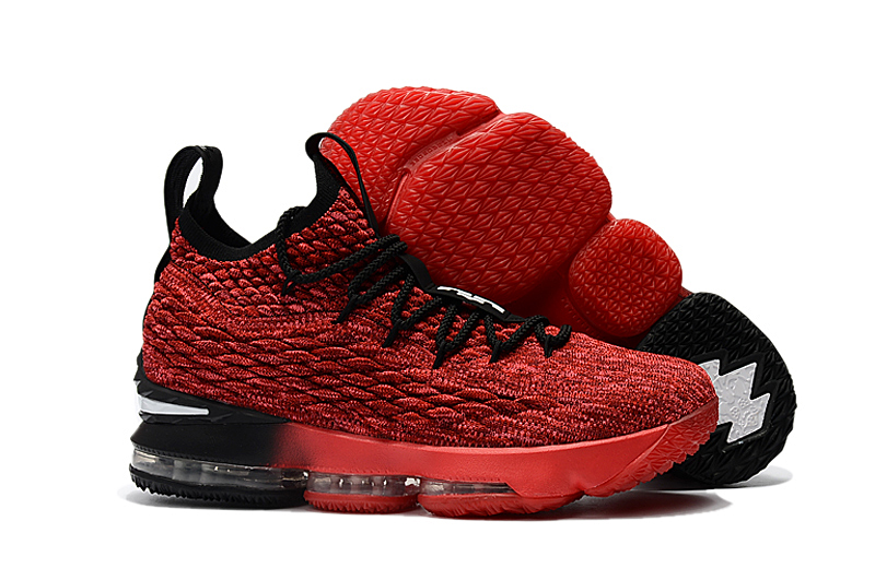 New Nike Lebron 15 Black Red Shoes