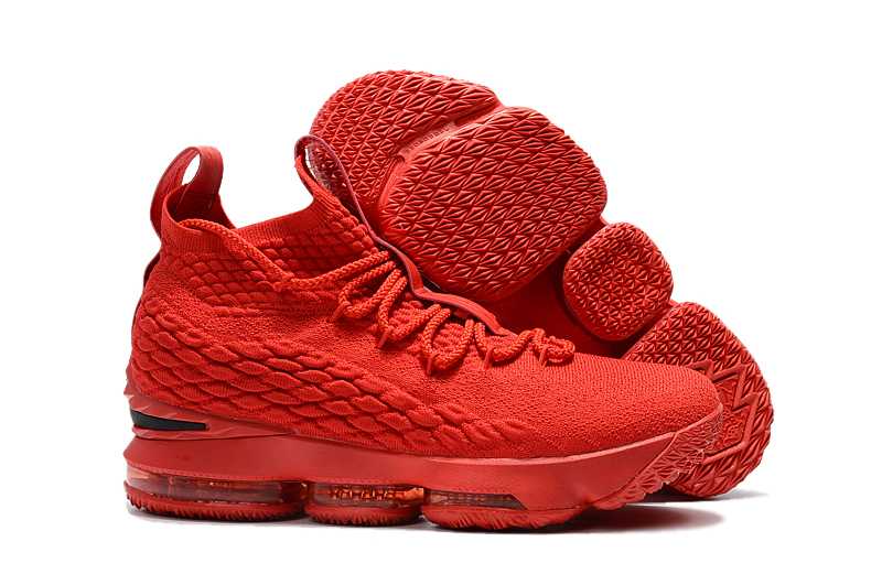 New Nike Lebron 15 Red Buckeye Shoes