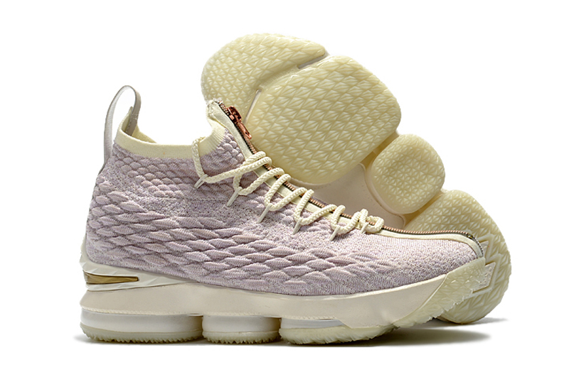 New Nike Lebron 15 Rose Golden Shoes