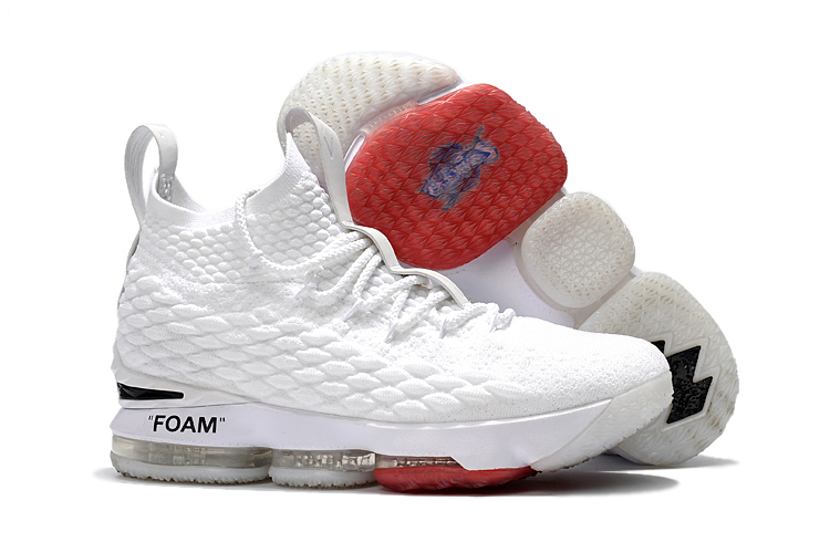 New Nike Lebron 15 White Joint Shoes