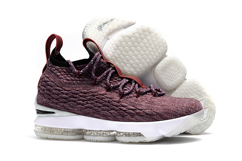 New Nike Lebron 15 Wine Red Black Shoes