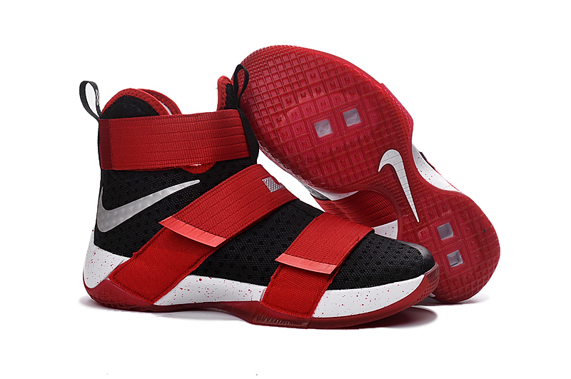 New Nike Lebron Solider 10 Black Red White Shoes