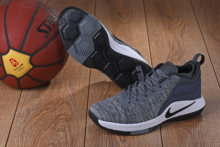 Nike Lebron Wintness Flyknit 2 Carbon Grey White Shoes