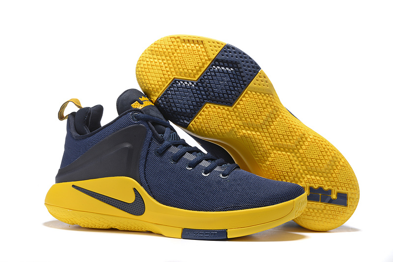 New Nike Lebron Zoom Wintness EP Navy Blue Yellow Shoes