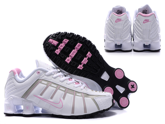 New Nike Shox NZ 3 Shoes White Pink For Women