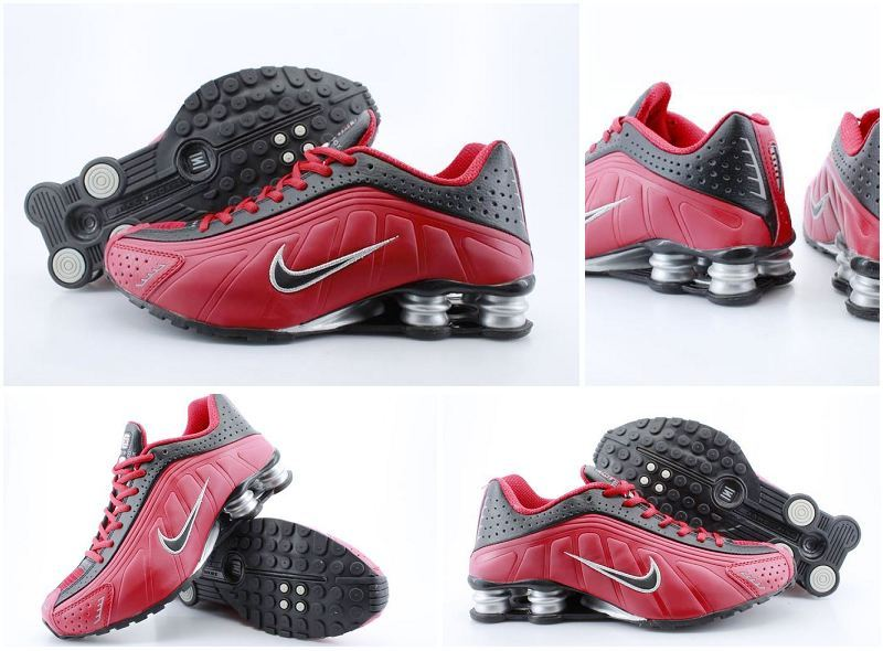 a6caff09059c Men s Nike Shox R4 Black Red Black Shoes