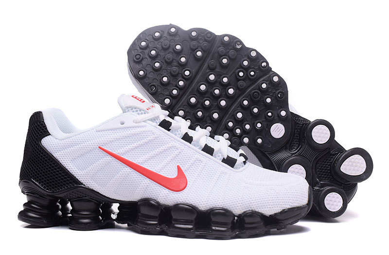 New Nike Shox TLX Plastic Surface White Black Red Shoes