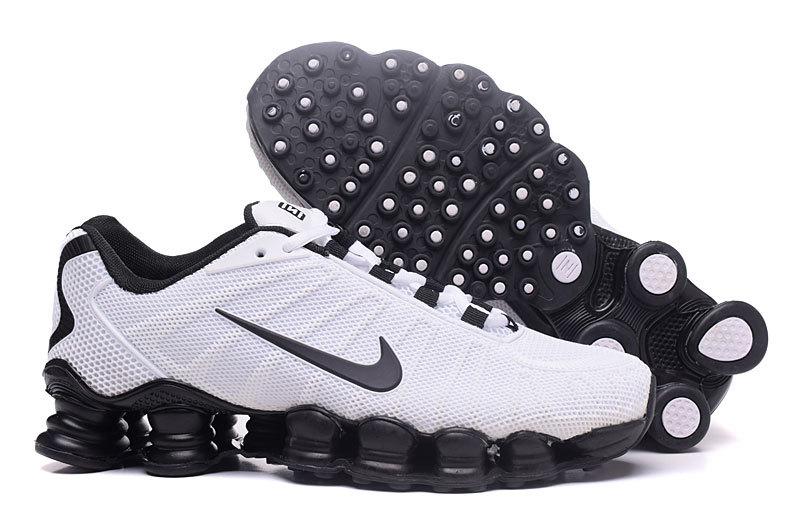 New Nike Shox TLX Plastic Surface Black White Shoes