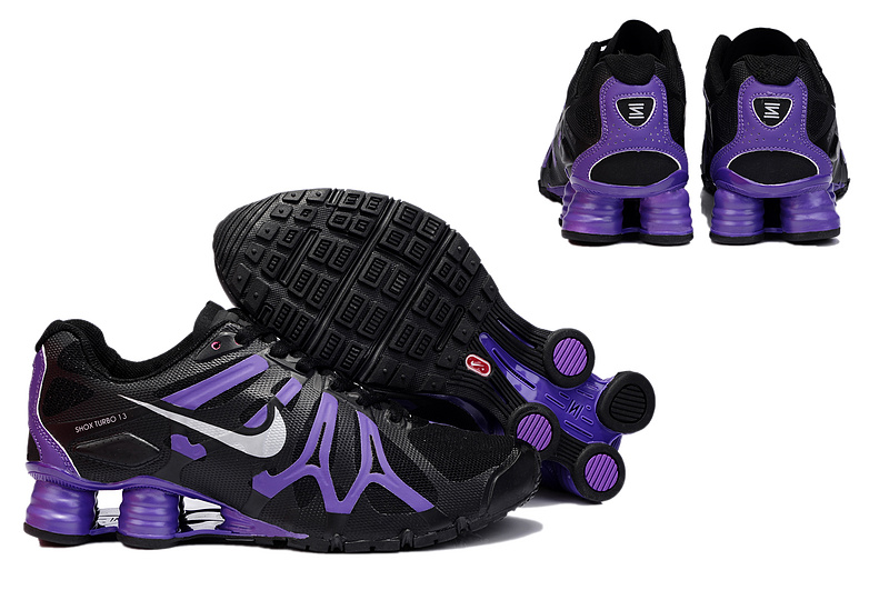 New Nike Shox Turbo+13 Shoes Black Purple For Women