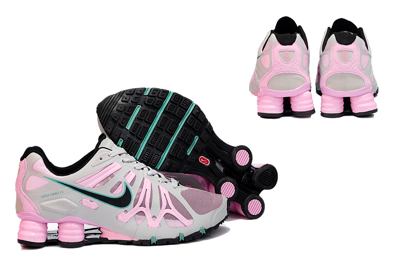 New Nike Shox Turbo+13 Shoes Grey Pink Black For Women