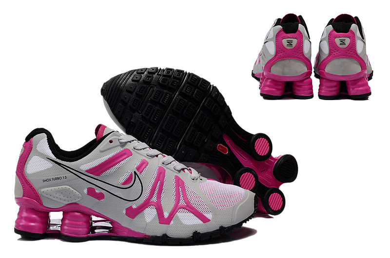 New Nike Shox Turbo+13 Shoes Grey Red For Women