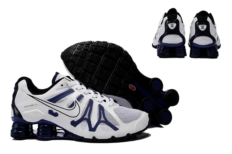 New Nike Shox Turbo+13 Shoes White Grey Black