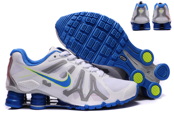 New Nike Shox Turbo+13 Shoes White Grey Blue For Women