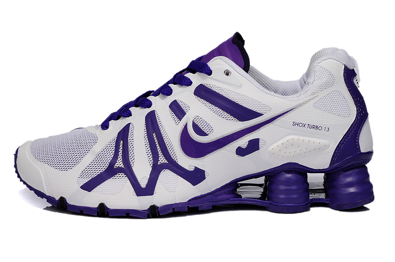 New Nike Shox Turbo+13 Shoes White Purple For Women