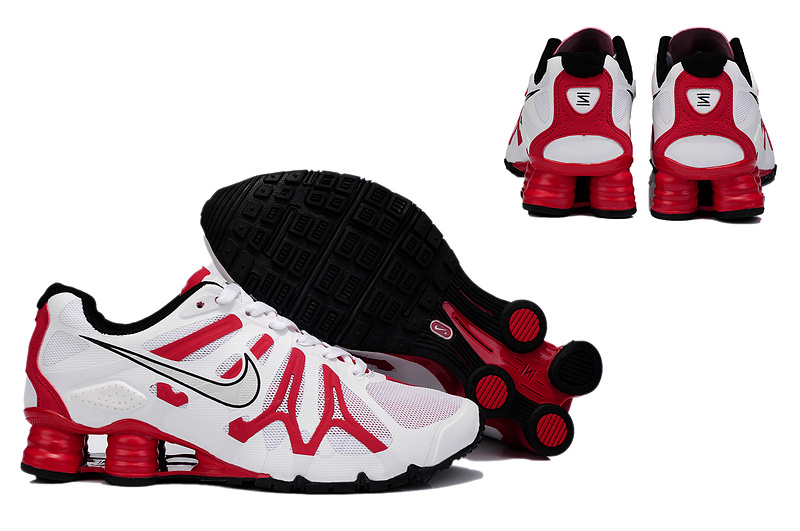 New Nike Shox Turbo+13 Shoes White Red