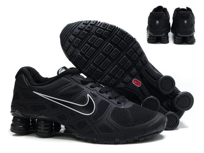 New Nike Shox Turbo 12 Mesh Shoes All Black