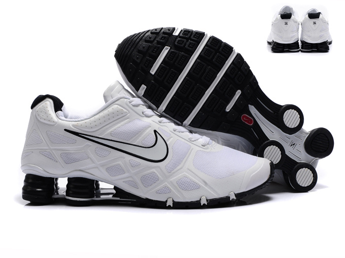 New Nike Shox Turbo 12 Mesh Shoes All White Black