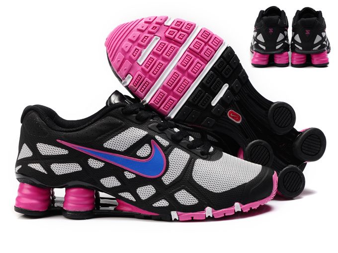 New Nike Shox Turbo 12 Mesh Shoes Black Blue Red For Women