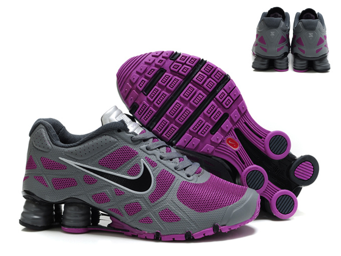 10020915b69a7e ... order new nike shox turbo 12 mesh shoes grey purple for women ea5fe  1bcad