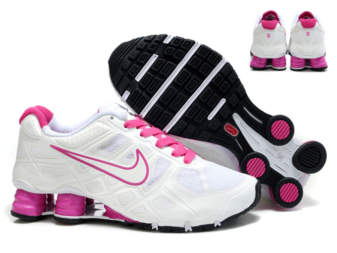 New Nike Shox Turbo 12 Mesh Shoes White Pink For Women