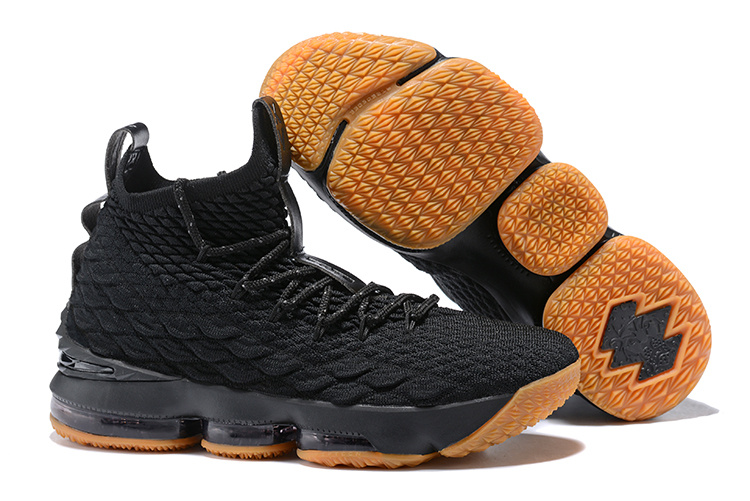 New Nike lebron 15 Black Gluer Shoes