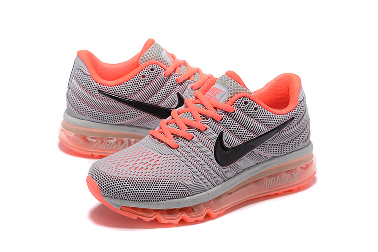 nike air max 2017 orange running shoes
