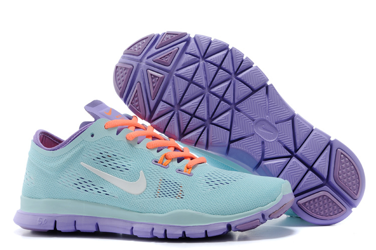 New Women Nike Free 50 Green Purple Orange Training Shoes