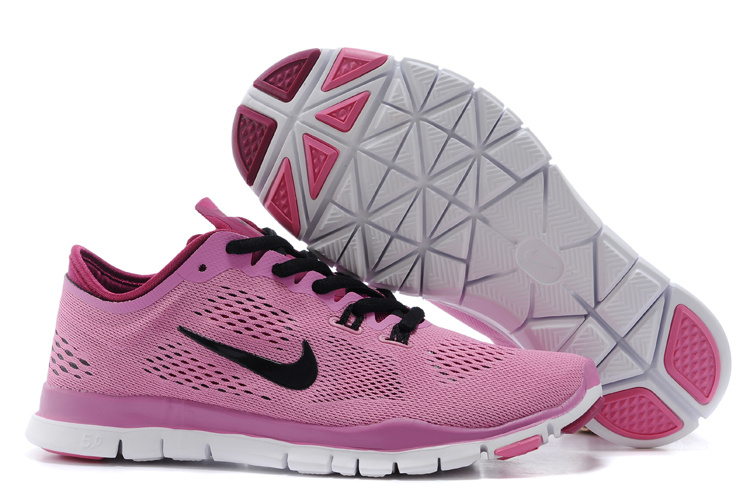 size 40 d51d1 88fc3 New Women Nike Free 5.0 Pink Black Training Shoes