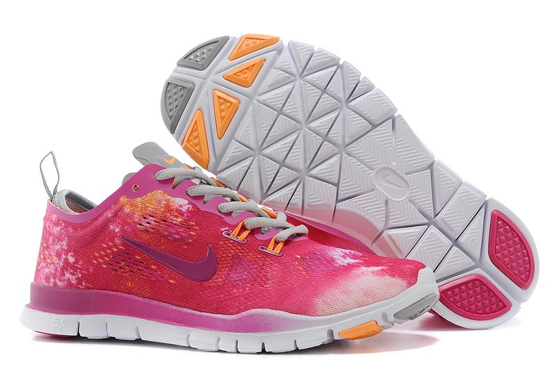 b5b14f166a899 New Women Nike Free 5.0 Red Grey White Training Shoes