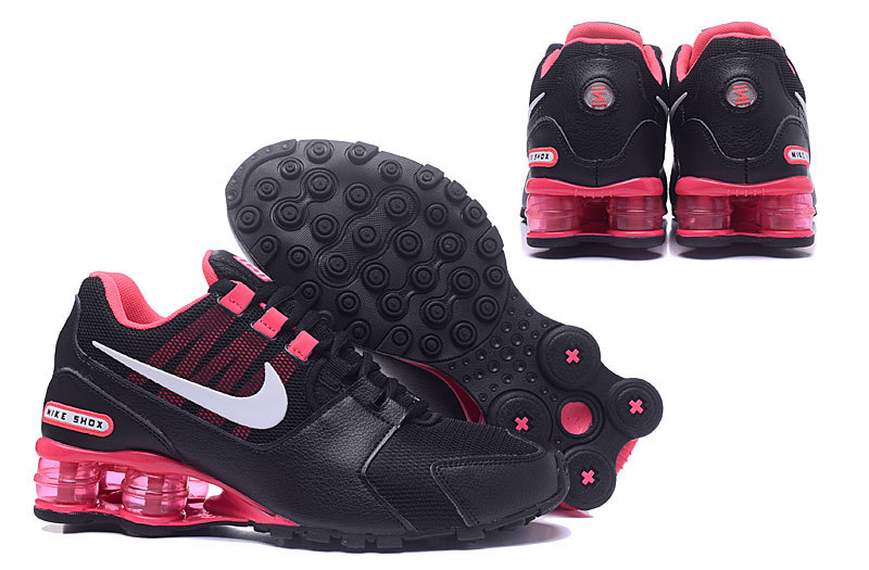 New Women Nike Shox Current Shoes Black Red