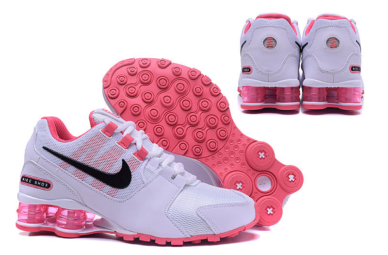 6b35c965358 New Women Nike Shox Current Shoes White Pink Black