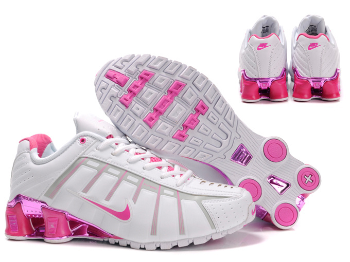 New Women Nike Shox NZ 3 White Pink Shoes