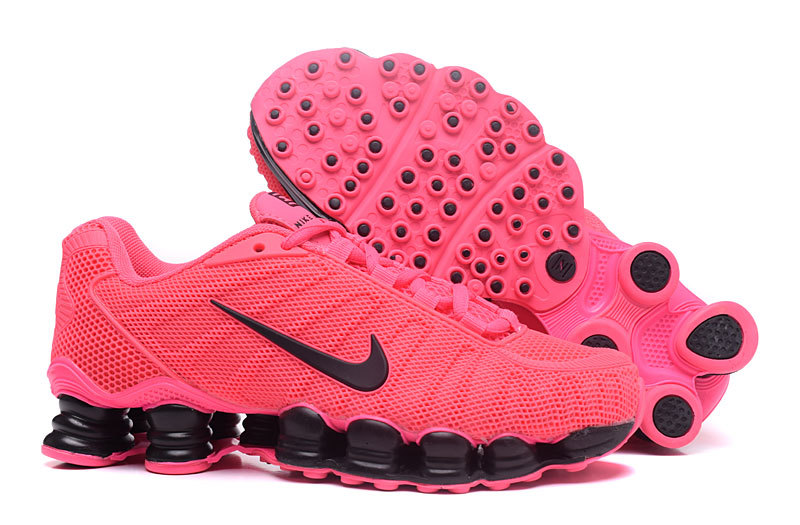 New Women Nike Shox TLX Plastic Surface Pink Black Shoes
