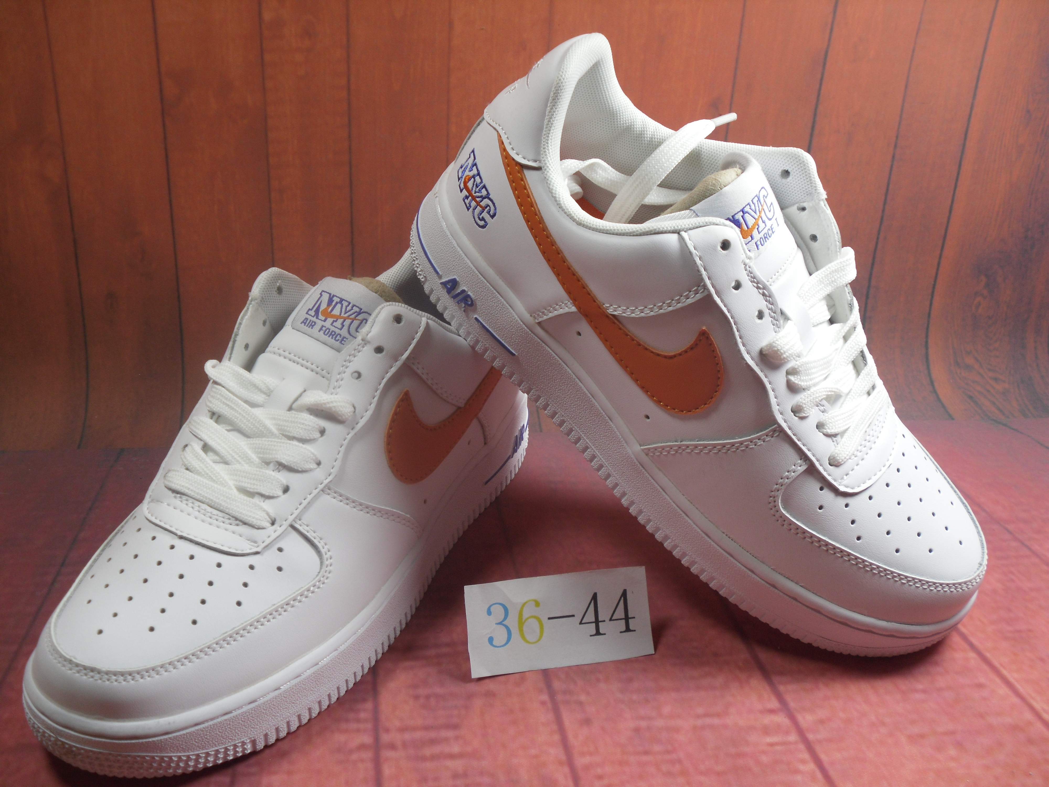 Nike Air Force 1 Jade AF1 White Orange For Women